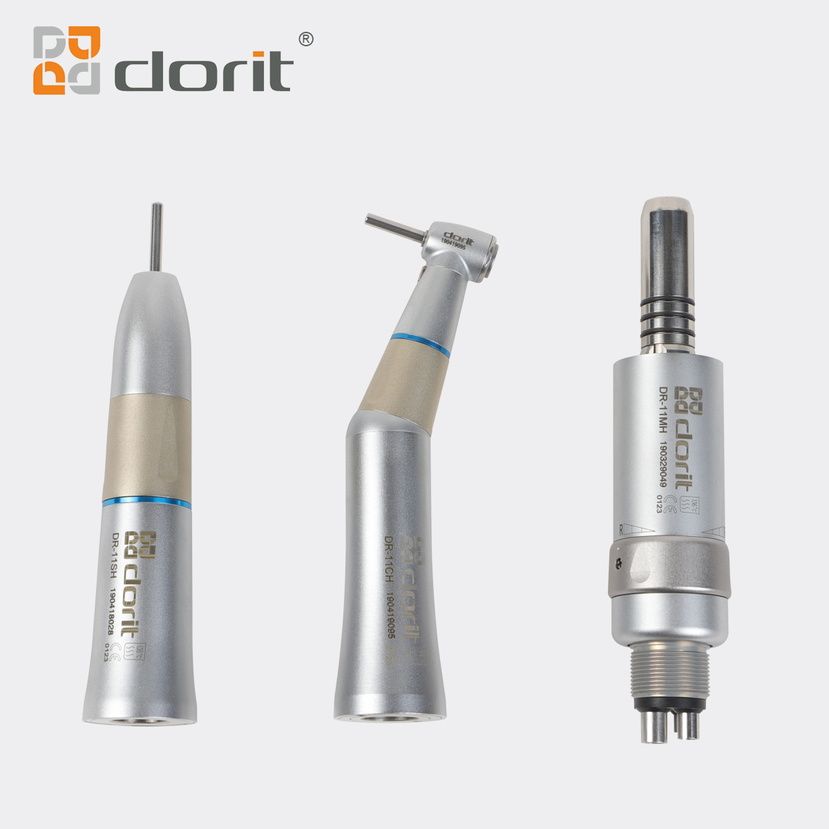1:1 Low Speed Dental Handpiece Kit Contra Angle Handpiece/ Straight Handpiece/ Air Motor